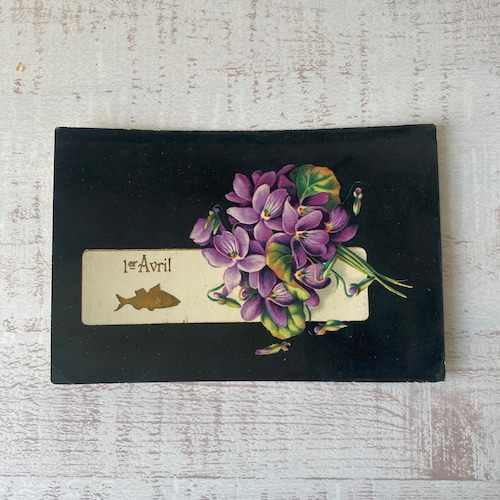 アンティーク Poisson d'Avril ポストカード   /  vp0214