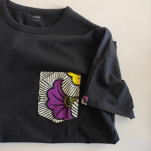 アフリカンファブリックポケットTシャツ