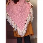 【sandglass】big triangle knit stole/【サンドグラス】ビッグ トライアングル ニット ストール
