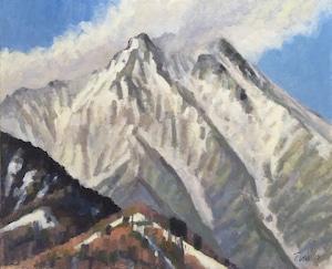 油絵#4「雪峰」F15号