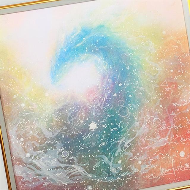 龍神 パステルアート 原画 『わたしのヒカリ』 龍神様が導くあなたのヒカリ