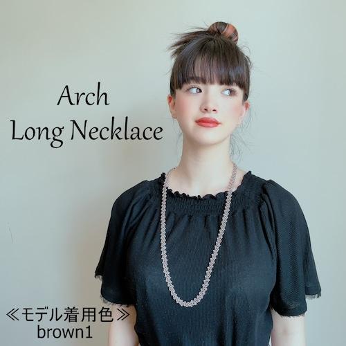 ボンジュクオヤのネックレス アーチ ロングB(カラーは商品内ページよりお選びください。)