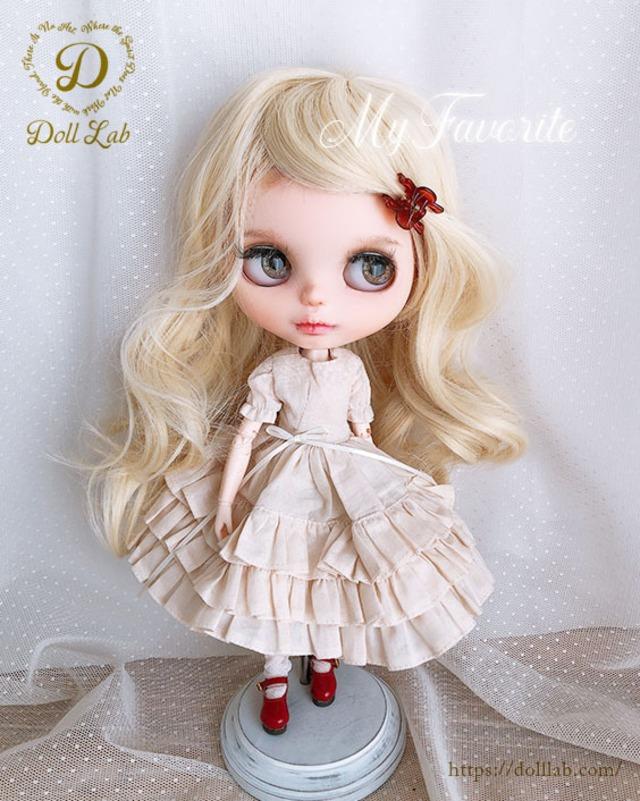 DWL014-A002-10inアリスシフォン[10inch]ミルクゴールド 髪なしブライス ドール ウィッグ