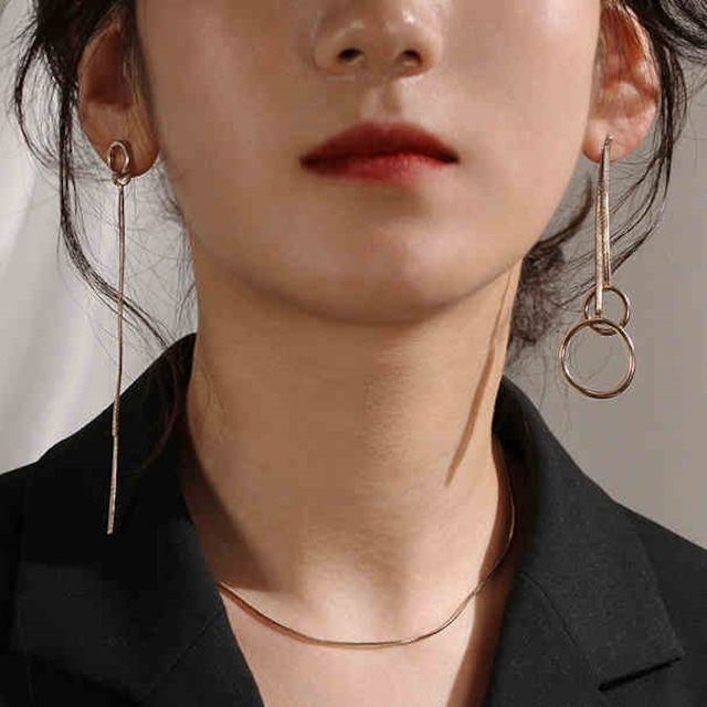 Asymmetry long pieces(アシンメトリーロングピアス)a-247