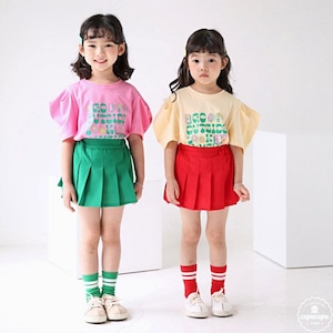 «sold out» bubble kiss garden puff tops ガーデンパフトップス