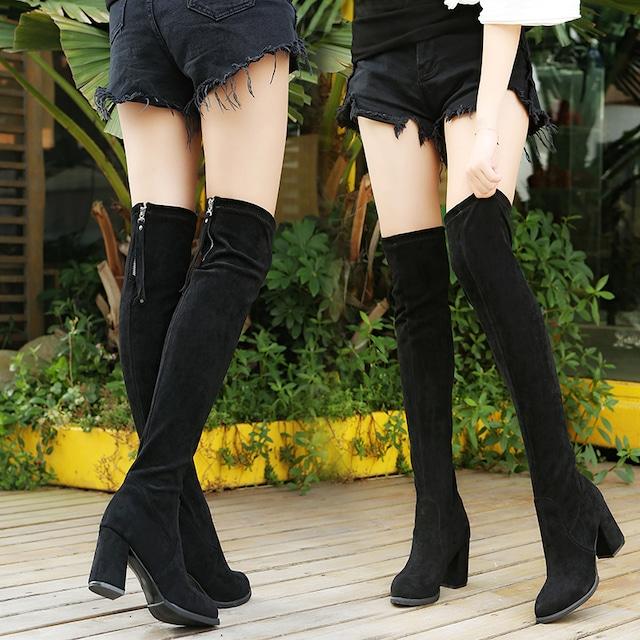 【シューズ】ファッションスエード定番ブーツ42929107