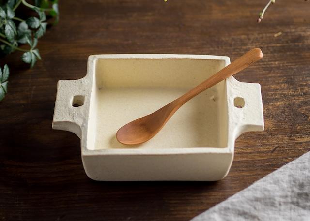 白化粧 正角 グラタン皿(耐熱皿・角皿・深皿)/吉永哲子