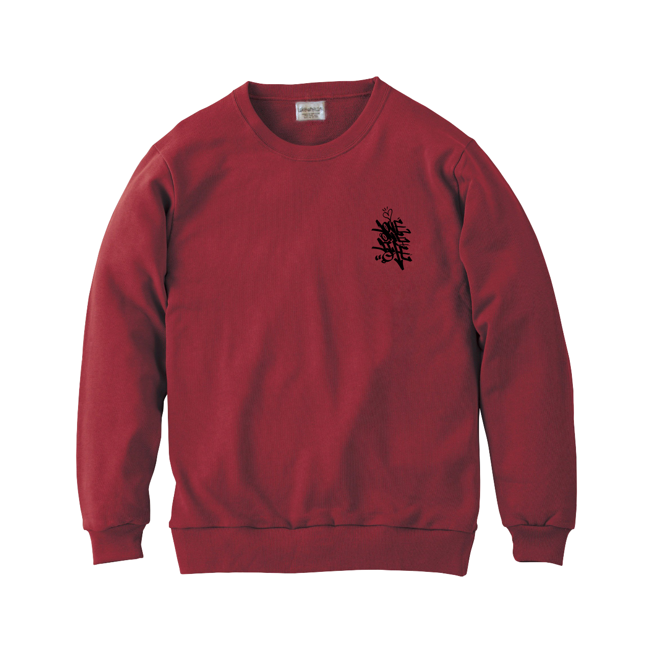 love one life sweater in burgundy