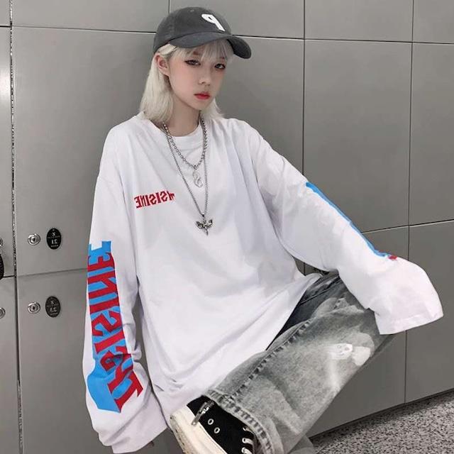 【トップス】シンプルカジュアル男女通用Tシャツ42895397