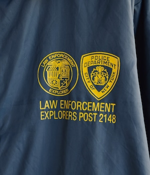 VINTAGE NYLON COACH JACKET -POLICE OEPATMENT-