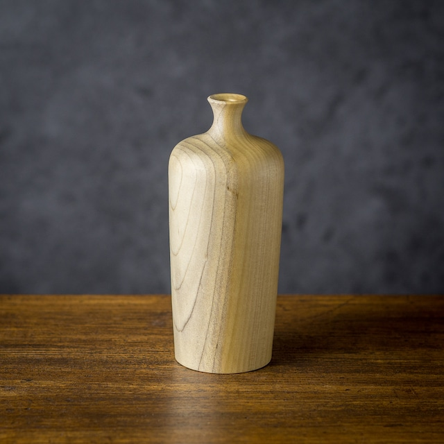 ホオノキ材 一輪挿し B(花器・フラワーベース)/Canaria Wood Works