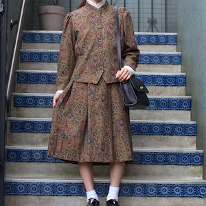 RETRO VINTAGE PAISLEY PATTERNED SET UP/レトロ古着ペイズリー柄セットアップ