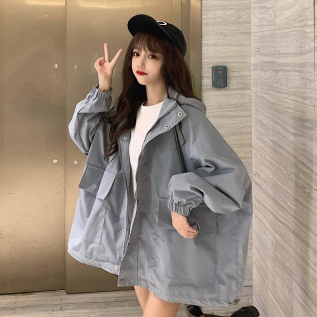 【アウター】ファッション長袖フード付きジッパージャケット52901022