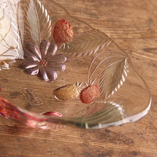 大塚ガラス  フルーツ柄のボウル皿 残り1枚