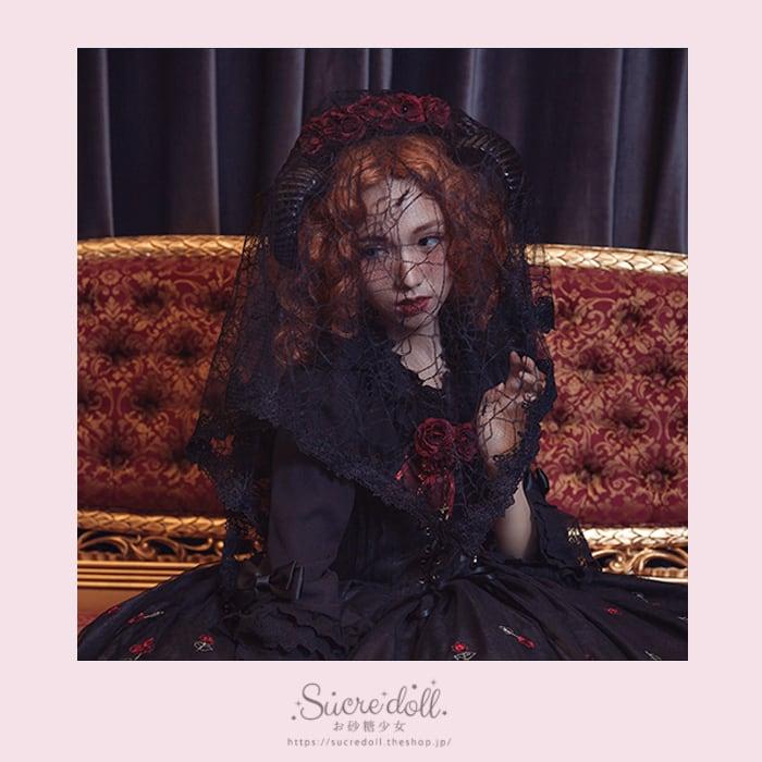 [2color]悪魔薔薇カチューシャ