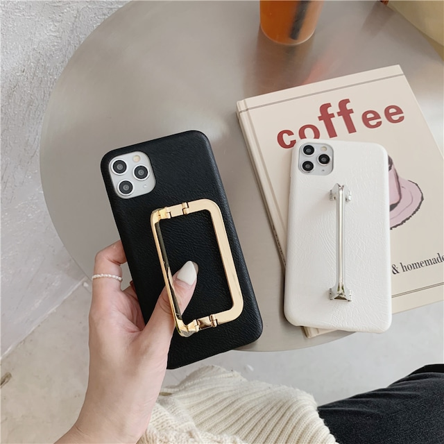 Leather clip iPhone case