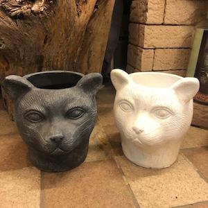 白猫黒猫 植木鉢 花鉢