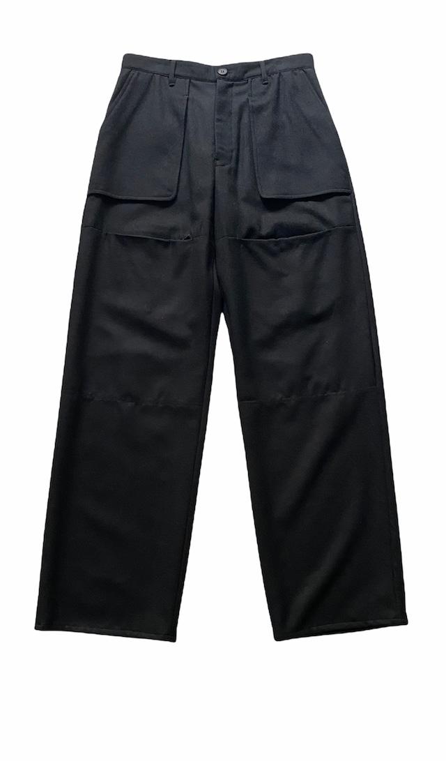 MATSUFUJI / Wool Front Pocket Trousers(BLACK)
