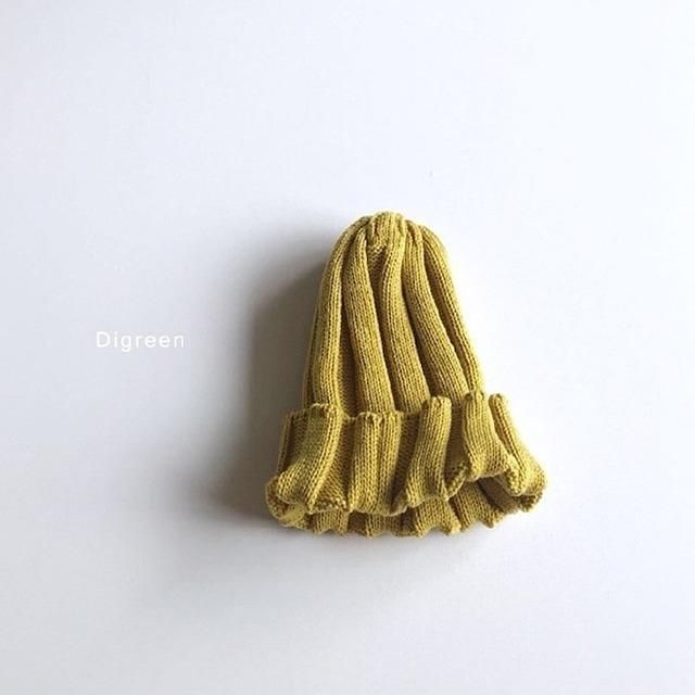 リブニット帽 [mustard]
