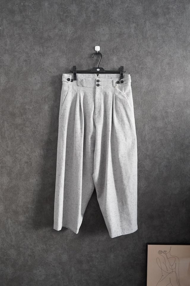 YANTOR stone Nep 2tuck wide pants