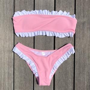 Bikini♡フリルトリムバンドゥビキニ ピンク GSB18S081PNK
