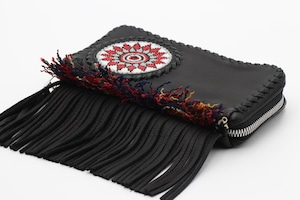 003 / ビーズ刺繍フリンジウォレット