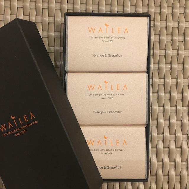 WAILEAオリジナル石鹸 3個セット orange&grape