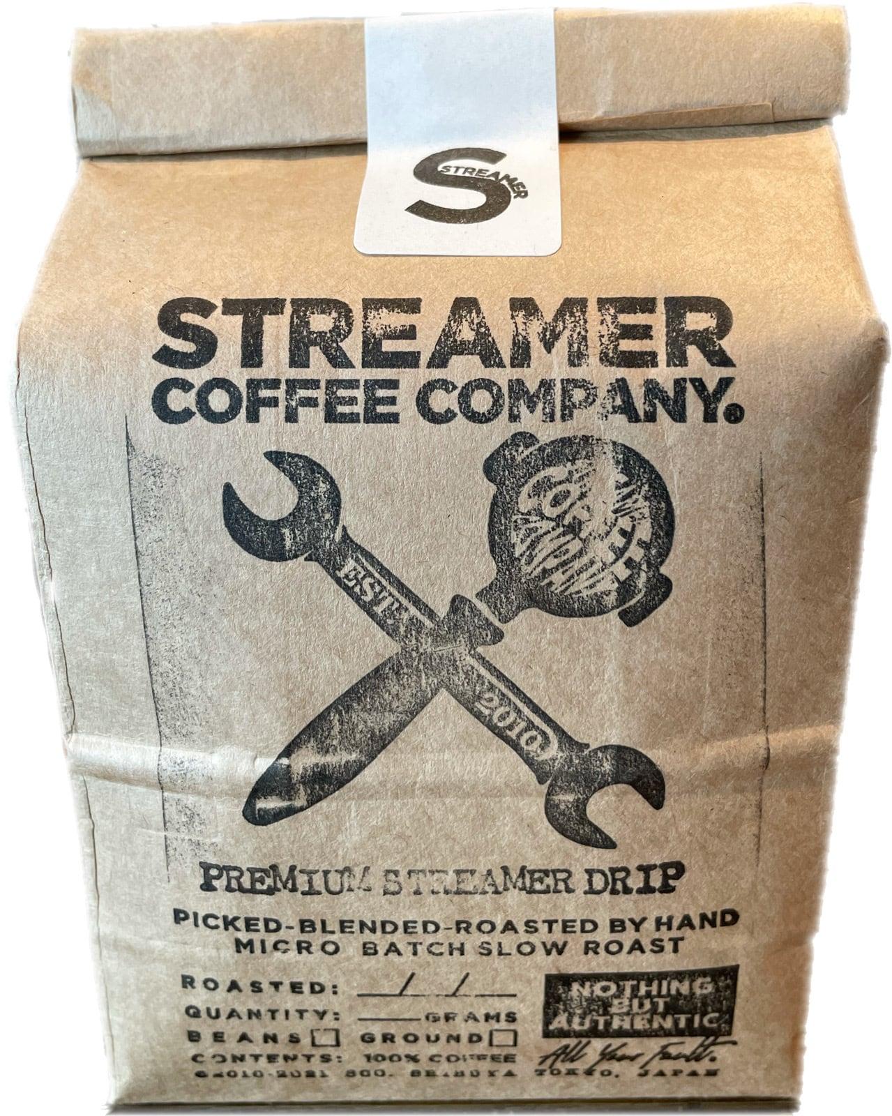 プレミアムストリーマードリップ コーヒー PREMIUM STREAMER DRIP  200g  豆のまま(エチオピア・ブラジル)
