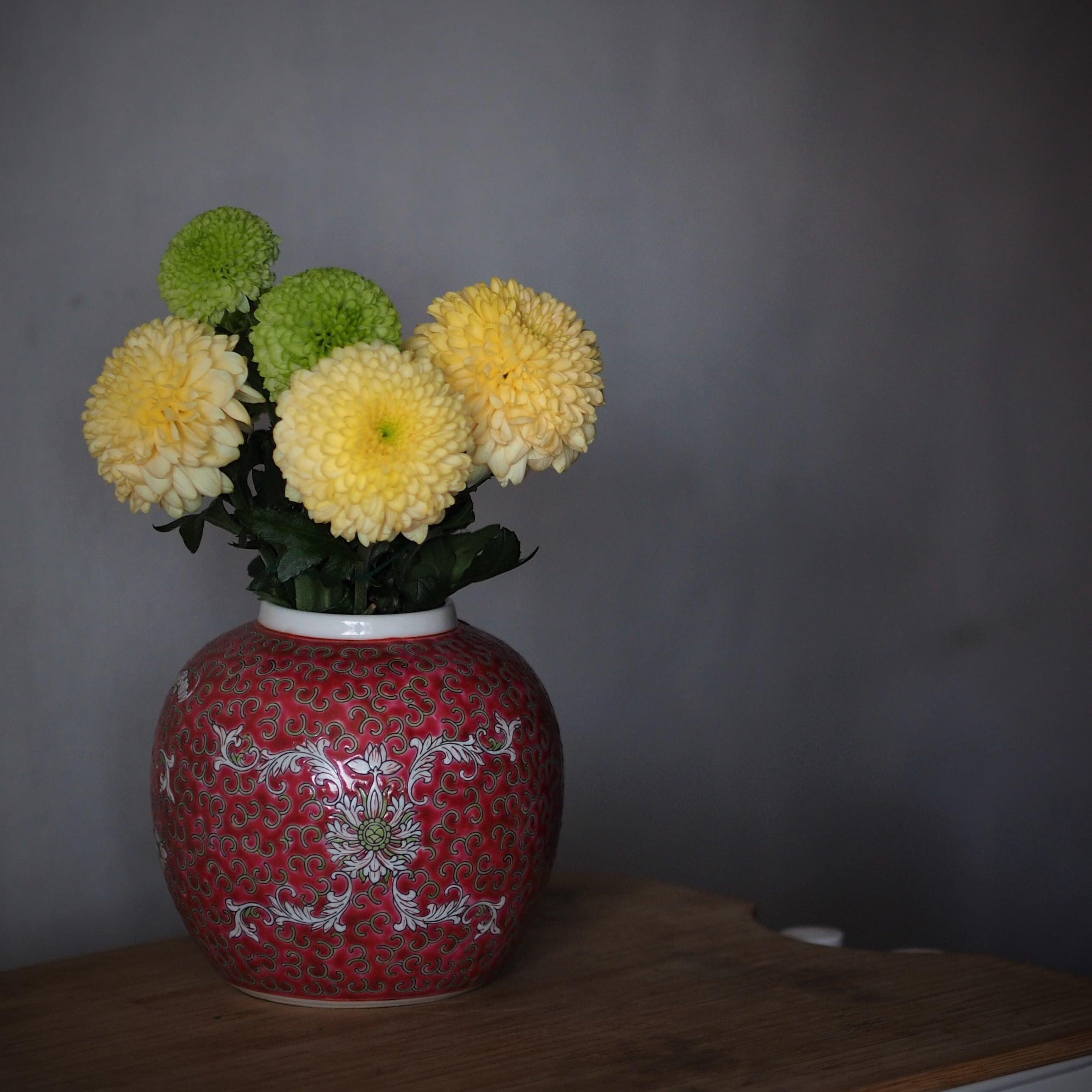 『朱赤のジンジャージャー/―2種―』シノワズリ/景徳鎮