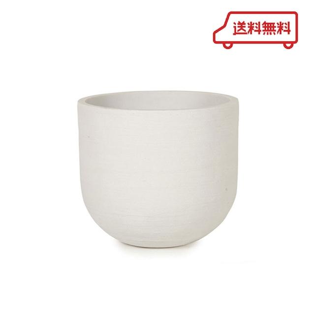 【送料無料】KONTON  ソンク ユーポットミドル  ホワイト 8号用 観葉植物