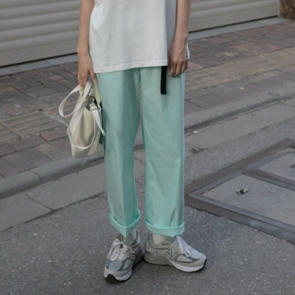 Pastel color straight pants(パステルカラーストレートパンツ)b-282
