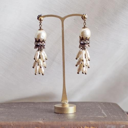 カーテンコール / 耳飾り(GlassPearl 王冠Lリーフ)