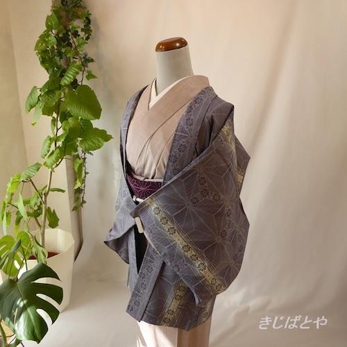 大島紬 薄鼠色の羽織