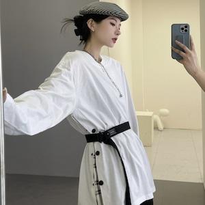【トップス】ファッションルーズ合わせやすいINS風カップル長袖Tシャツ52666511