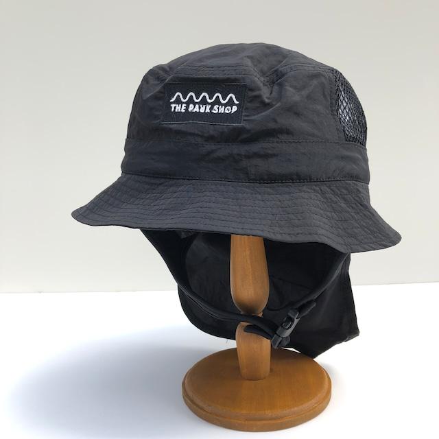【21SS】THE PARK SHOP(ザ・パークショップ)WATERBOY HAT (KIDS )black ハット 帽子