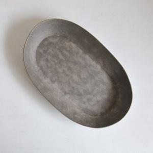 鈴木智子(いにま陶房) 楕円プレート(6-A)