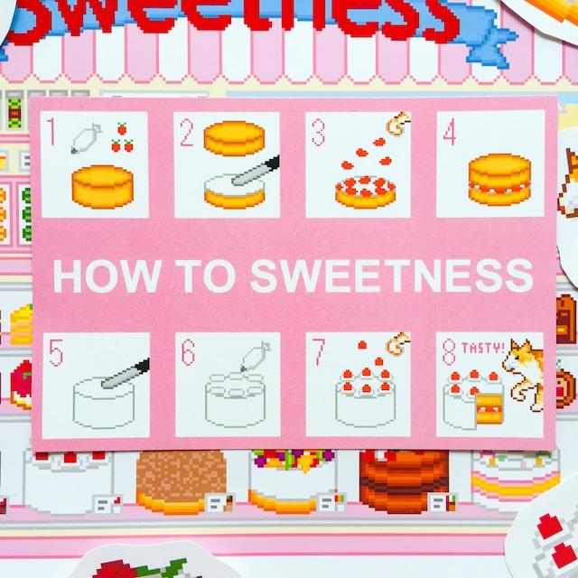 ポストカード Sweetness ケーキの作りかた柄