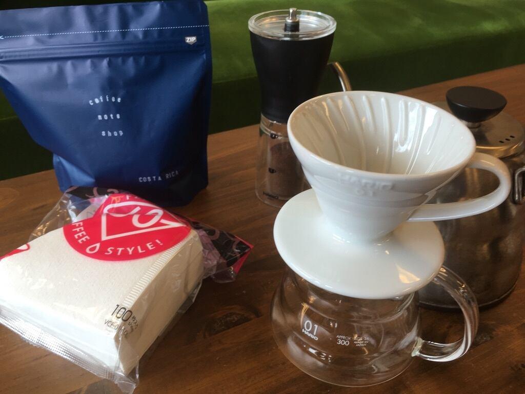 【コーヒー豆付き】初心者におすすめのドリップセット!自宅で今すぐコーヒーを淹れたい方向けセット
