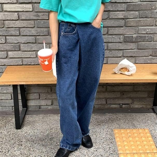 Asymmetry denim pants(アシンメトリーデニムパンツ)a-603