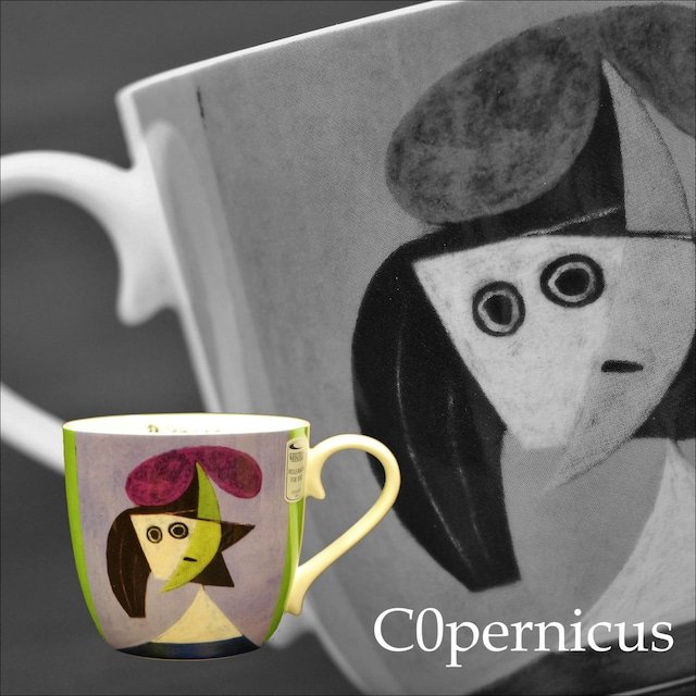 Picasso - Woman with a Hat  オルガ /ピカソ1935 【artマグカップ】 (電子レンジ、食器洗浄機にも対応)   浜松雑貨屋C0pernicus