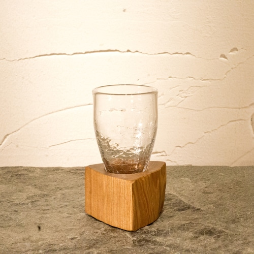 【淳工房】木Glass 細 小 ヒビ k-20