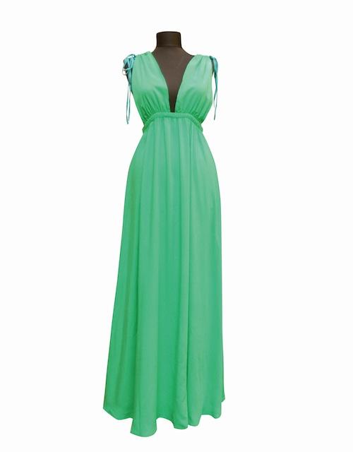 Maxi Night&Resort Dress AegenseaGreen マキシナイト&リゾートドレス エーゲ海グリーン