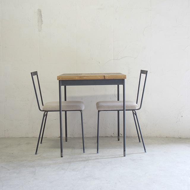 テーブル02 【天板:古材 590*590】KT1706