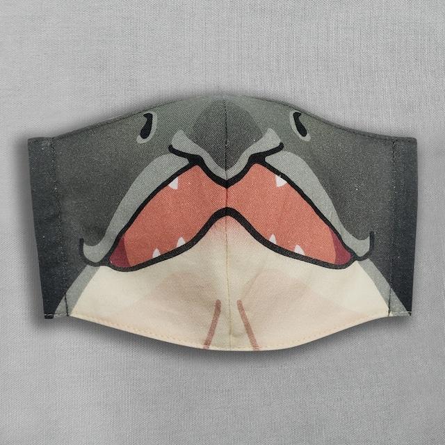 【抗菌・抗ウィルス加工マスク/受注販売】鮭|動物マスク