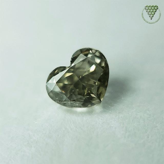 0.119 ct FANCY DARK GRAY GREEN SI2 CGL 天然 グレー  グリーン ダイヤモンド ルース ハートシェイプ