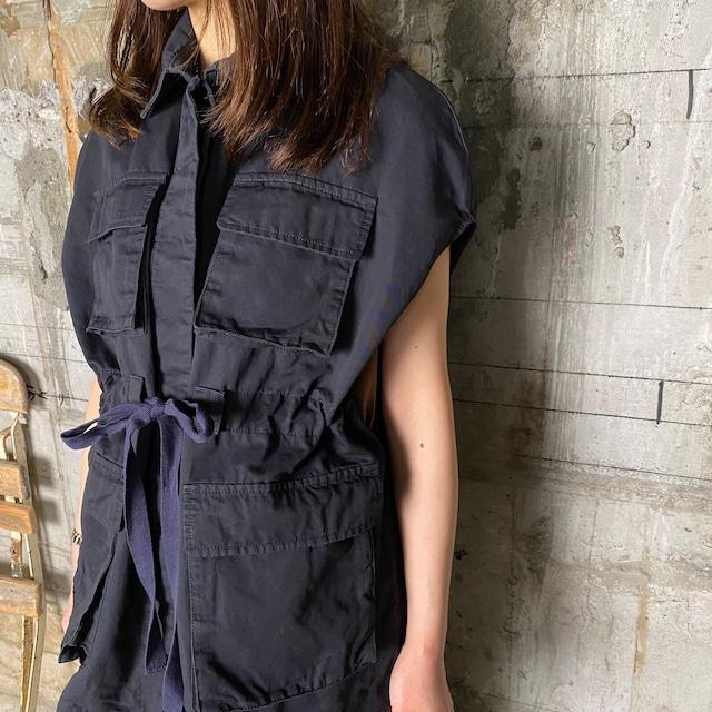 Dessin de Mode【デッサン ド モード】ミリタリーケープジャケット(11DJK-CO01OPCL NAVY SIZE:1)