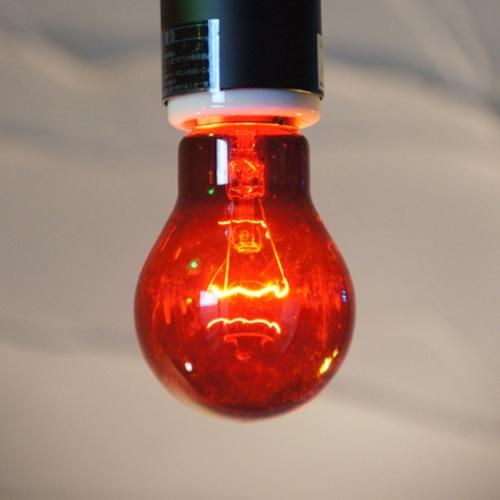 E26 40W 透明カラーランプ レッド(白熱電球)※電球のみ