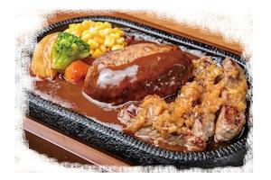 【ラルコーン】ハンバーグ&ステーキ弁当