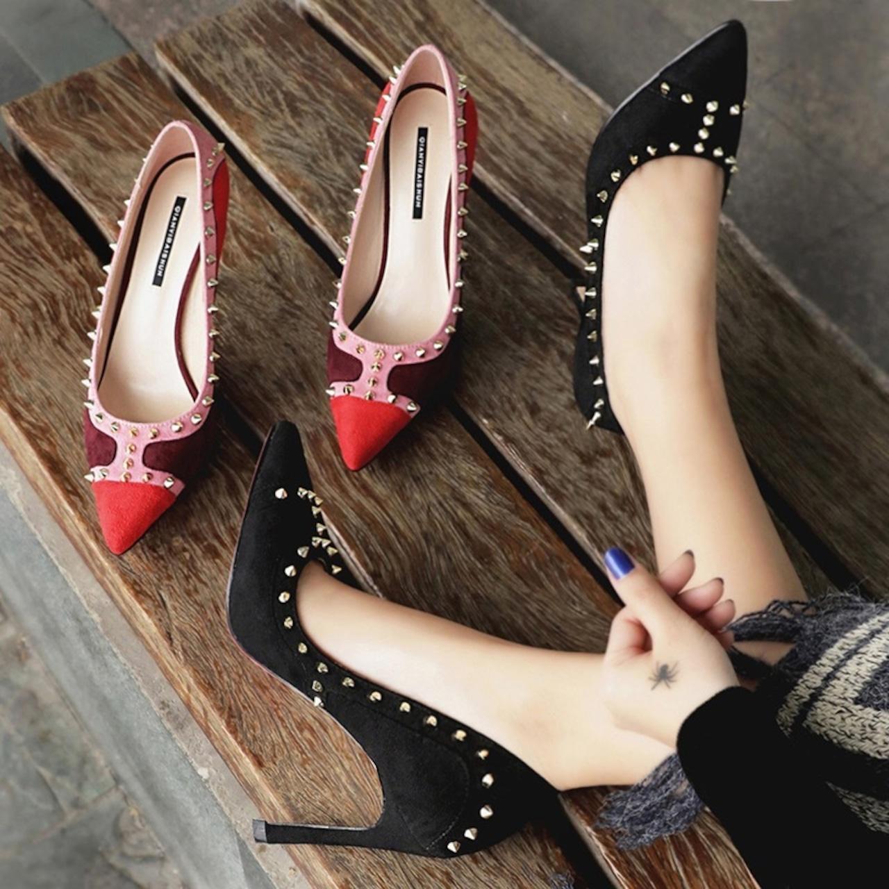【即納】velvet colorful high heel