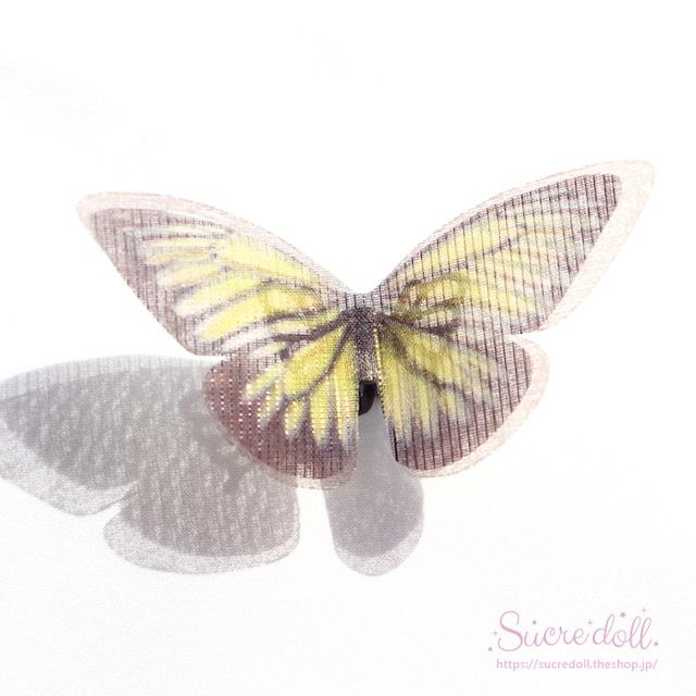 [金色] 胡蝶の夢 ヘアクリップ